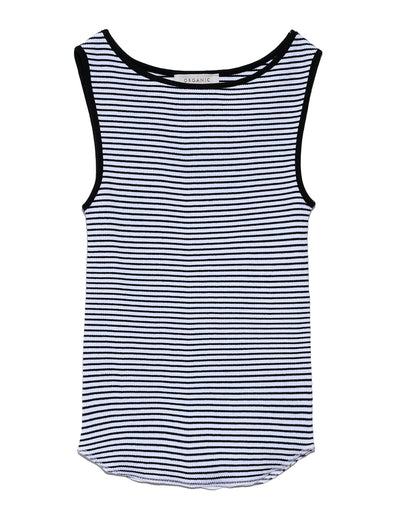 Organic ribbed tank top