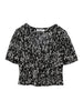 Flower Printed Short Blouse