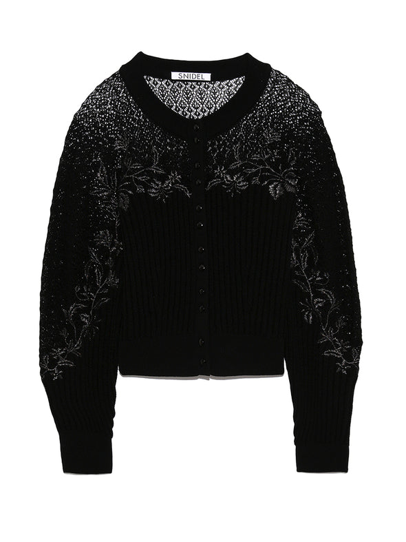 Detailed Knit Lace Cardigan