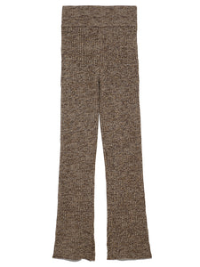 Melange-knit pants