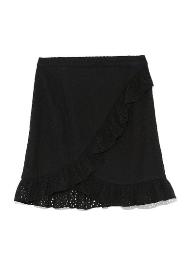 Frilled Wrap Mini Skirt