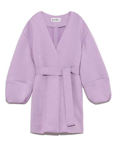 Collarless Ponte Knit Coat (SWFC191009)