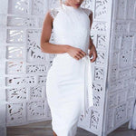 ELEGANT WHITE LACE DRESS