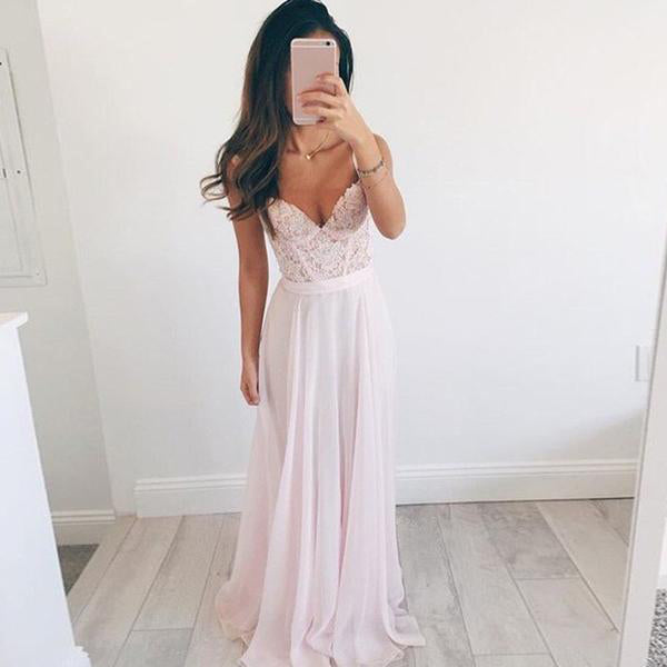 SEXY AND ELEGANT LONG LACE TULLE BACKLESS WITH V NECK MAXI DRESS