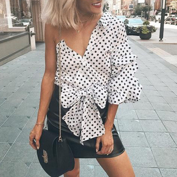SEXY ONE SHOULDER BLOUSE SHIRT