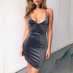 SEXY VELET BODYCONE VINTAGE VESTIDOS WITH SPAGHETTI STRAP SLEEVELESS DRESS