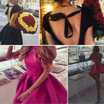SEXY PRINCESS BOW BACKLESS WITH OPEN BACK AND BANDAGE BOWN GOWN DRESS