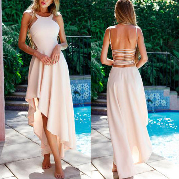SEXY BOHO MAXI BACKLESS LONG BEACH PARTY DRESS