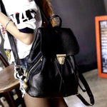 SEXY FLAP BACKPACKS WATERPROOF PU SHOULDER BAG