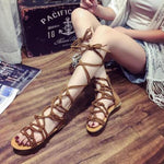 SEXY SANDALS BOHEMIA VINTAGE HOLLOW OUT WITH CROSS STRAP FLAT SHOES