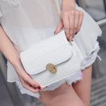 SEXY AND FASHIONABLE FLAP TREND GRID HANDBAG AND SHOULDER BAG WITH CHAIN