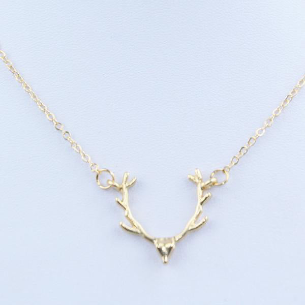 SEXY GOLD  DEER ANTLER PENDANT NECKLACES