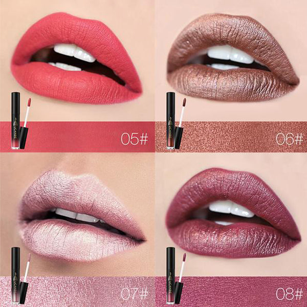 MOISTURIZING WATERPROOF LONG LASTING SHIMMER METALLIC LIQUID LIPSTICK LIPGLOSS