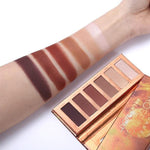 MINI HEAT PALETTE 6 COLORS SHIMMER MATTE POWDER NATURAL NUDE CONTOUR EYESHADOW SET