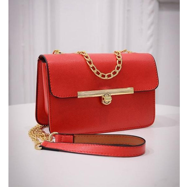 SEXY MINI FLAP HANDBAG AND SHOULDER WITH GOLD CHAIN BAG