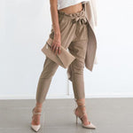 SEXY STRINGYSELVEDGE OL CHIFFON WITH HIGH WAIST HAREM PANTS