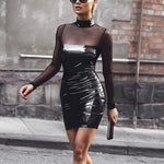 SEXY SLIM BODYCON WITH LONG SLEEVE DRESS