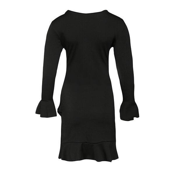 SEXY BLACK MINI WITH LONG SLEEVES DRESS
