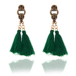SEXY VINTAGE BOHEMIAN TASSEL HANGING DROPS STATEMENT DANGLE EARRINGS