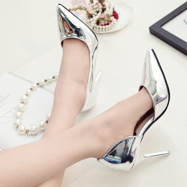 SEXY PUMPS HIGH HEELS WITH  POINTED TOE SHOES