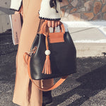 SEXY RETRO BUCKET FLAP HANDBAG AND SHOULDER BAG