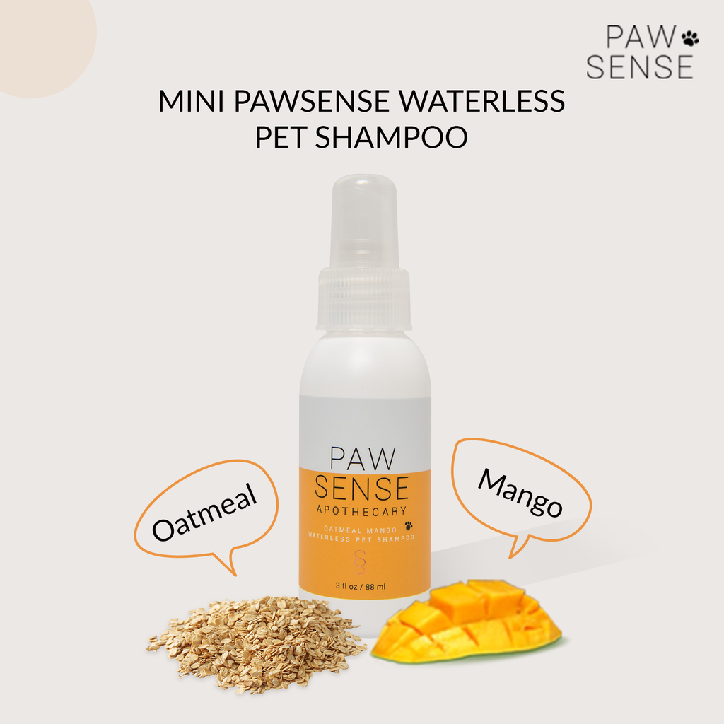 MINI Oatmeal Mango Scent All-Natural Waterless Pet Shampoo
