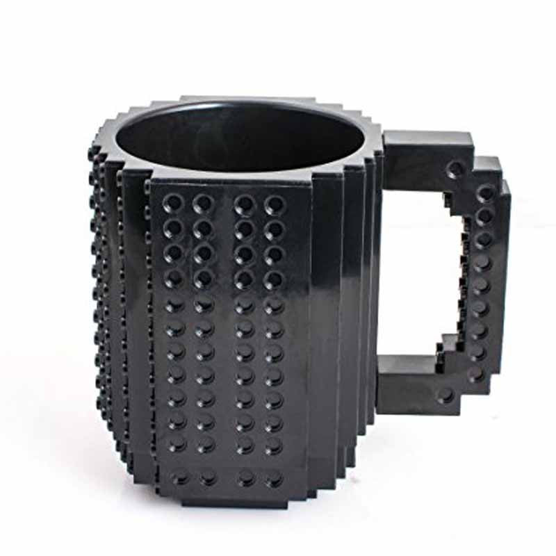 Creative DIY Build-on Brick Mug Lego Style Puzzle Mugs, Building Blocks Coffee Mug