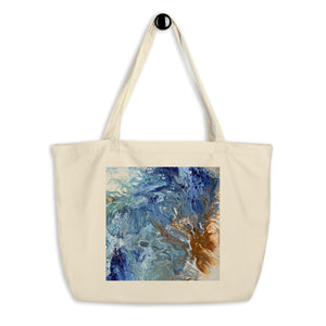 Large organic tote bag - Ocean