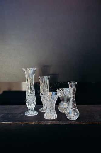 Hire Pieces - Crystal Bud Vases