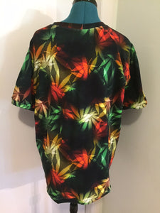 Mens/Womens Raglan Snoop Chronic Cannabis Print Size Large