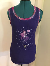 Mermaid and Moon Tank Top Size Small