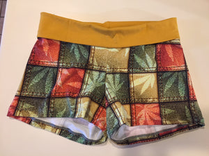 Rasta Denim Canna Sleep/Lounge Shorts - Size XL