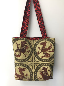 Dragon Antique Look Scale Tote Bag