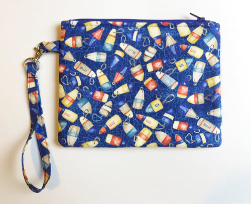 Lobster Buoy Zipper Wristlet