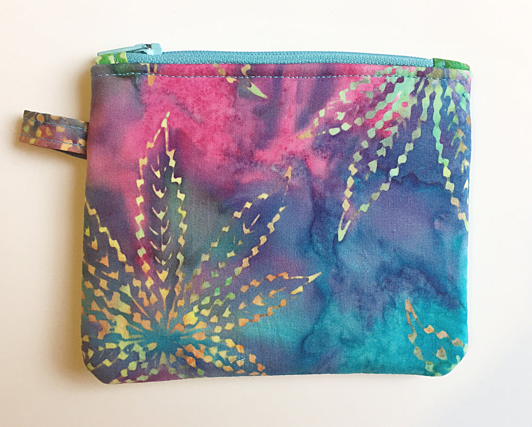 Watercolor Leaf Padded Accessory Bag