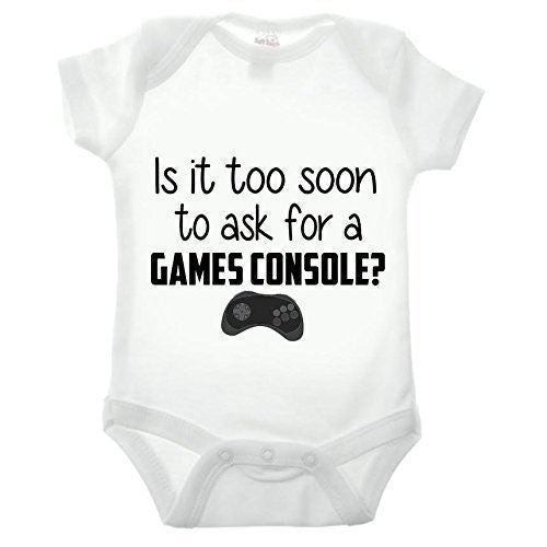 Bullshirt is It Too Soon to Ask for A Games Console Short Sleeve Babygrow