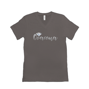 Overcomer // Women's Jersey Short Sleeve V-Neck Tee [product_type]
