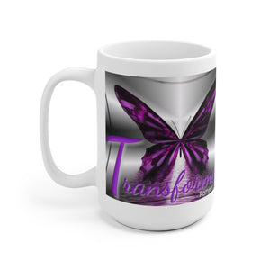 Transformed Butterfly // Breakthrough // White Ceramic Mug Mug