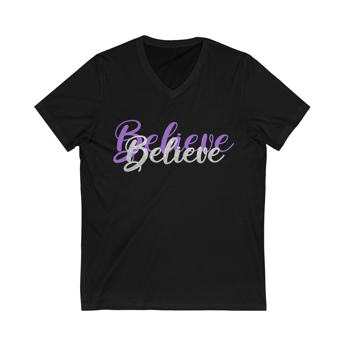 Believe // Jersey Short Sleeve V-Neck Tee V-neck