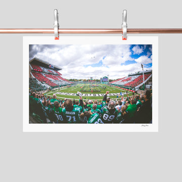 Iconic photo of Old Mosaic Stadium (signed)