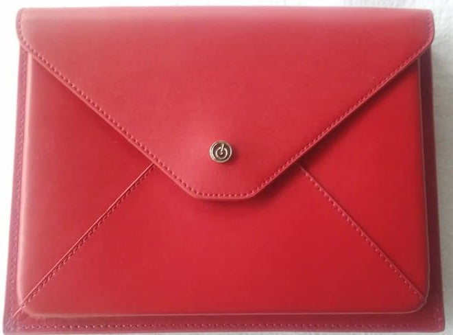 Leather eReader case - Red