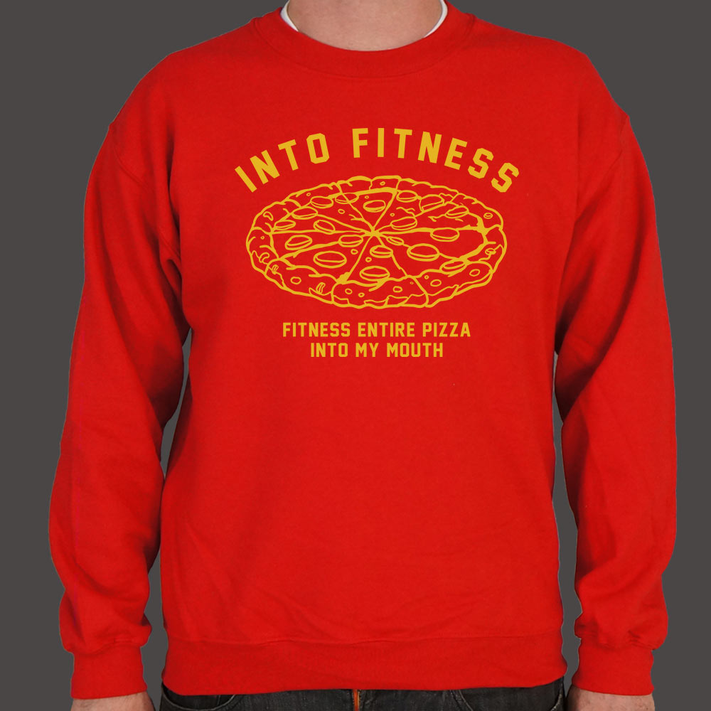 Into Fitness, Fitness Entire Pizza Into My Mouth Sweater (Mens)