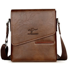 Load image into Gallery viewer, Kangaroo Crossbody Men Waterproof Leather Messenger Shoulder Bag