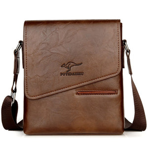 Kangaroo Crossbody Men Waterproof Leather Messenger Shoulder Bag