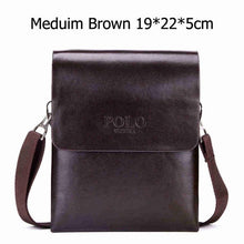 Load image into Gallery viewer, VICUNA POLO Double Pocket Soft Leather Men Messenger Bag