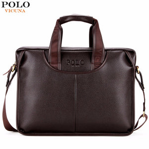VICUNA POLO Large Size Men Leather Briefcases