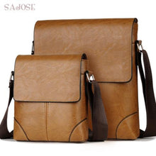 Load image into Gallery viewer, Set of 2 Crossbody Men Messenger pu Leather Shoulder bags