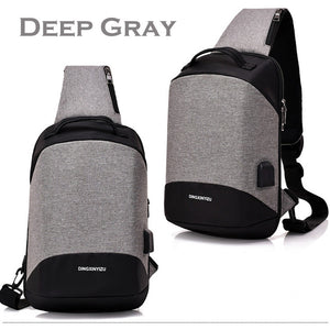 Multi-functional Crossbody Bag Outdoor Casual Anti Theft Chest Bag with USB