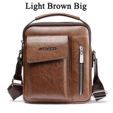 Load image into Gallery viewer, WEXER Crossbody Men Messenger Leather Handbag/Shoulder Bag