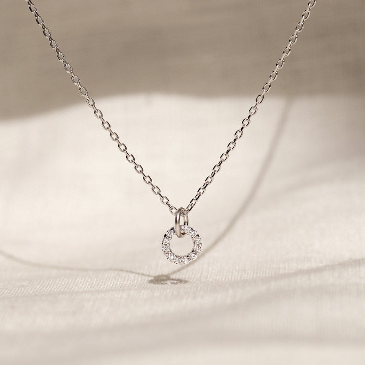 Amir 925 Sterling Silver CZ Necklace